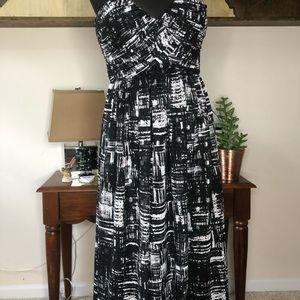 Calvin Klein strapless evening gown. Maxi